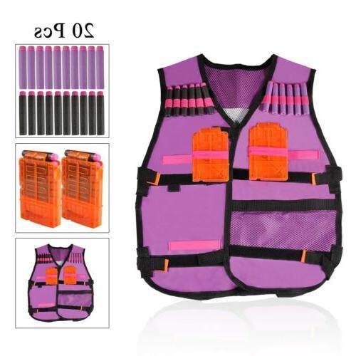 1/5/10/20/50pcs Tactical Vest Gun Clip Jacket Nerf Toy Lot