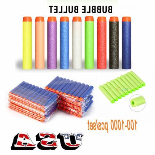 100/500/1000PCS Refill Blaster Foam Darts for Elite