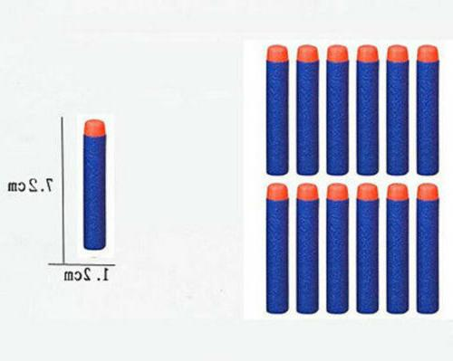 1000PCS Bullet Darts NERF Toy Gun N-Strike Round Head Blue