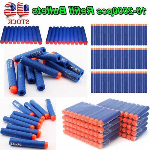 1000x 7 2cm refill foam bullet darts