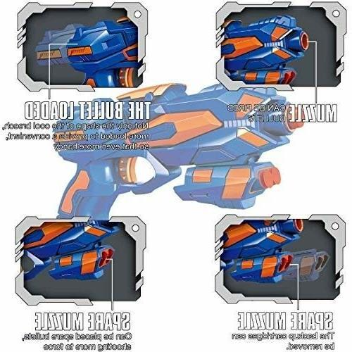 POKONBOY 2 Pack Blaster Guns 32 PCS Soft Kids Gun Toys bo