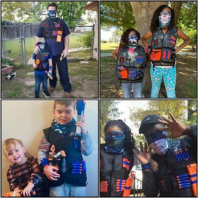 2 Pack Kids Vest Kit Guns Nerf fortnite N-Strike Elite
