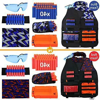 UWANTME Pack Kids Tactical Vest Kit for Nerf Elite Series...