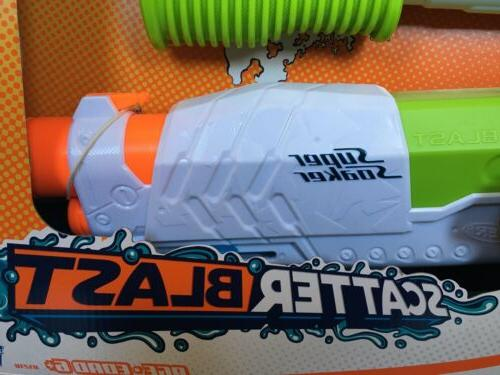 2 Nerf Soaker Scatter Gun Shoots to 34 Feet 5 Stream NEW