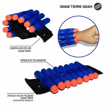 2-Pack Tactical Kit for Nerf Guns Clips, 80 Darts, Wristbands