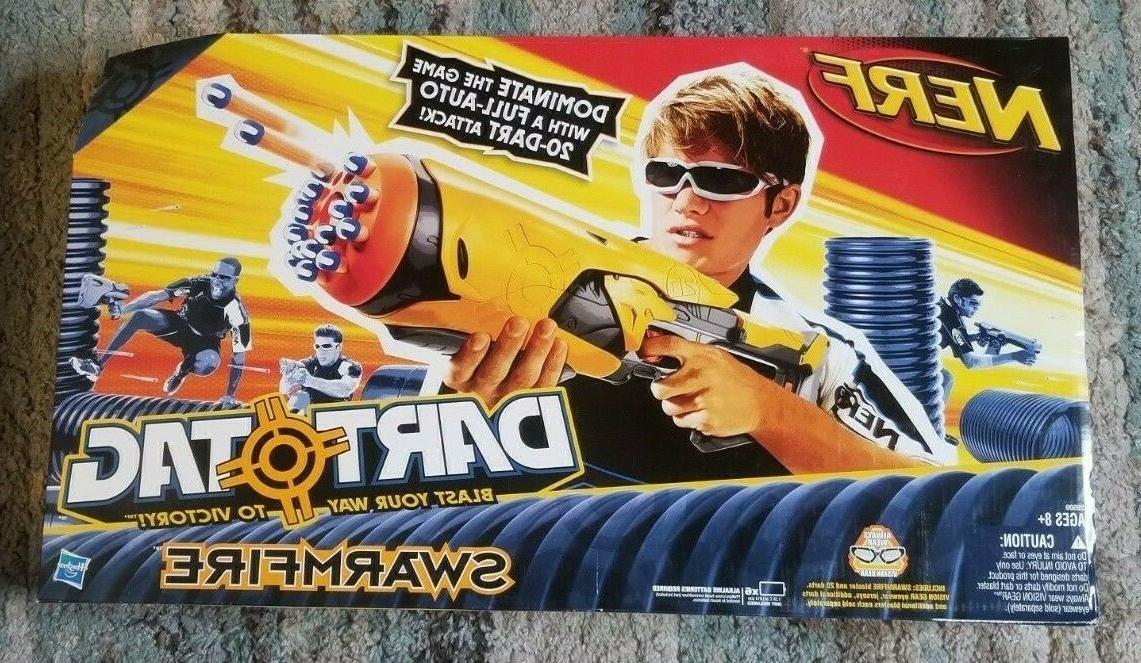 2010 Hasbro SWARMFIRE DART Gun and Dart Tag *NEW SEALED*