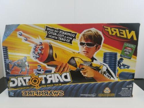 2010 nerf swarmfire dart tag gun new