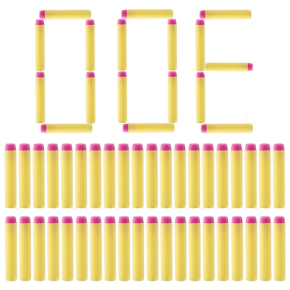 NFSTRIKE 300pcs Soft Women <font><b>Girls</b></font> Foam Bullets For Toy <font><b>Gun</b></font> Part Free