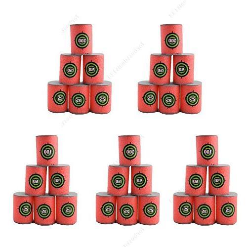 30pcs Soft Target Dart Foam Toy Gun NERF Blaster Toy, 6Pcs/Set, 5-Set