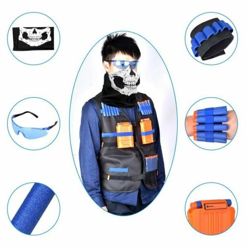 56Pcs Elite Vest Elite Series Nerf Guns