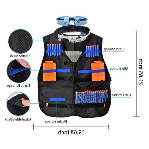 56Pcs Kids Elite Vest for Elite Nerf Guns