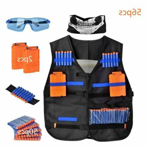 56pcs kids elite tactical vest kit