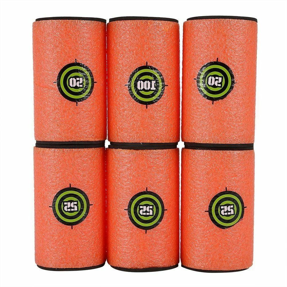 6p/lot Gun Bullet big Target Soft Shoot