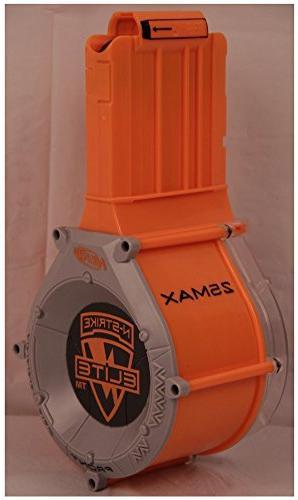 NERF N-Strike ELITE 25 Round Ammo Drum Clip Magazine