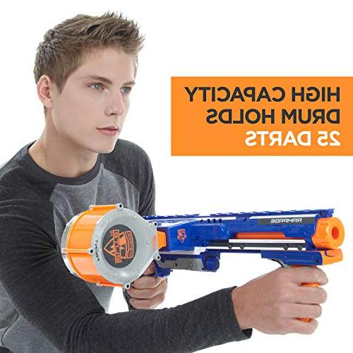 Nerf Rampage Toy Dart and 25 Official Foam Darts for Teens,