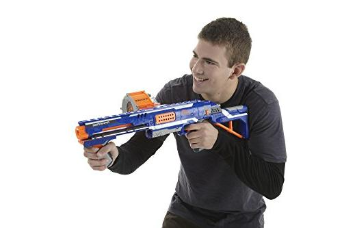 Nerf Toy Blaster Dart Drum and 25 Elite Foam Teens, Adults