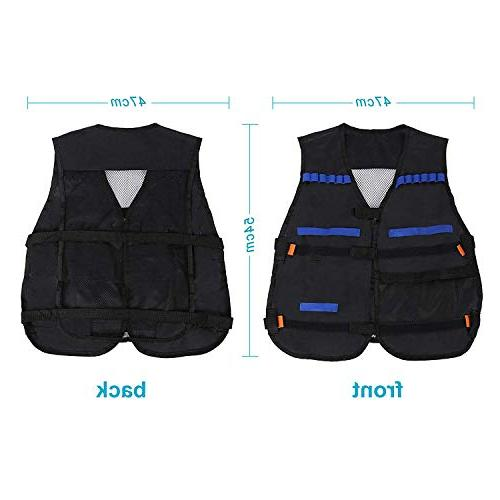 Yosoo Elite Vest Pcs Soft for Nerf Elite Series