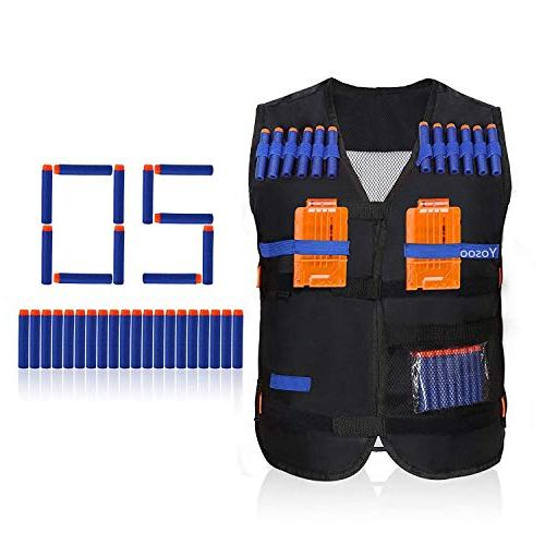 Yosoo Kids Elite Tactical Vest Soft Foam Darts Nerf N-strike Series