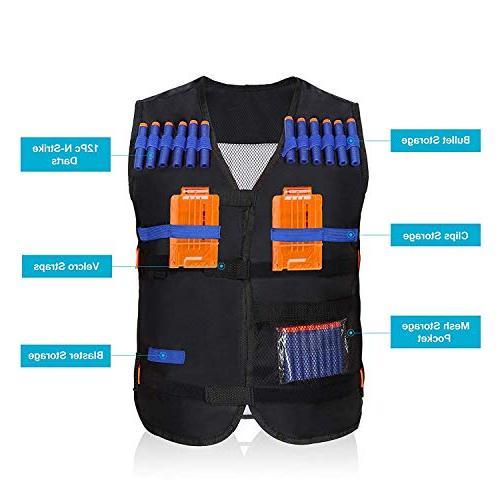Yosoo Kids Vest with Soft Foam Darts Nerf Series