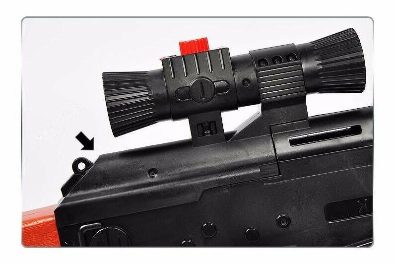 AK 47 3Pcs Bullet 400Pcs Water Absorb Gun