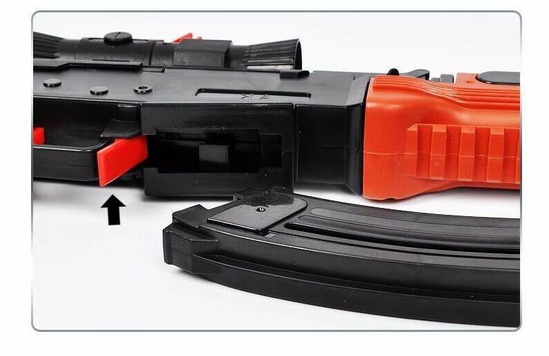 AK Toy Gun 3Pcs Soft Bullet Water Bullet Gun rifiel
