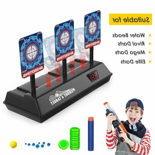 automatic reset electronic target for nerf n