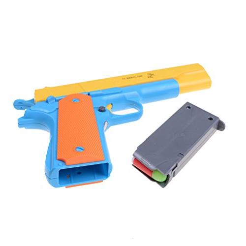 Liberty Imports Toy Gun Realistic 1:1 Scale Bullets, Ejecting Magazine, Pull Back