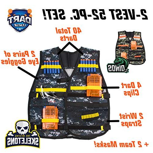 USA Nerf Vest Set and Games and Adults, Vests Guns for and Girls