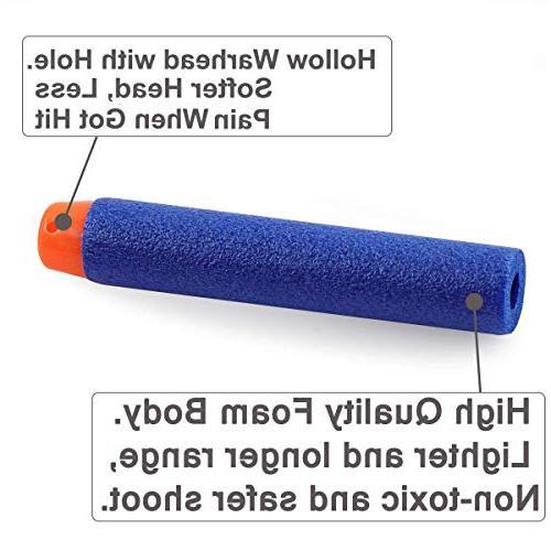 POKONBOY Compatible Nerf Guns Pack Refill Foam Darts with Nerf Guns Series Guns Kids