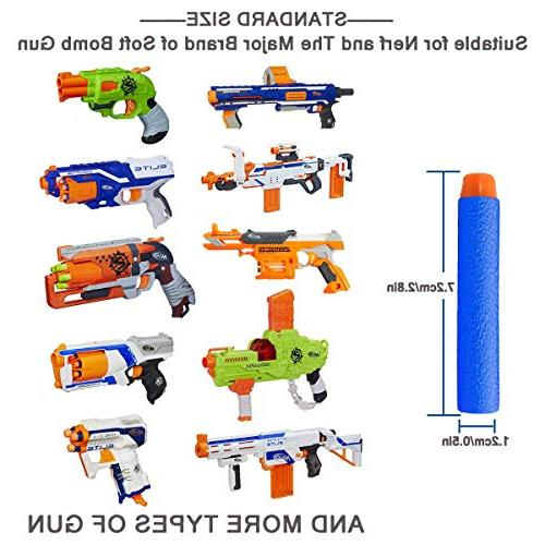 POKONBOY Nerf Pack Refill Foam Darts Compatible with Series Blaster Toy Kids