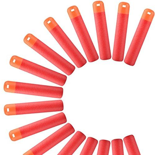 POKONBOY Compatible Dart Refill N-Strike Series Color Red Mega Nerf