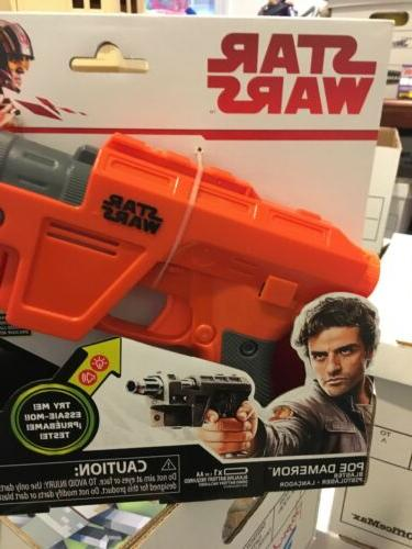 Disney Hasbro Star Wars Nerf Glowstrike Poe Blaster Lights