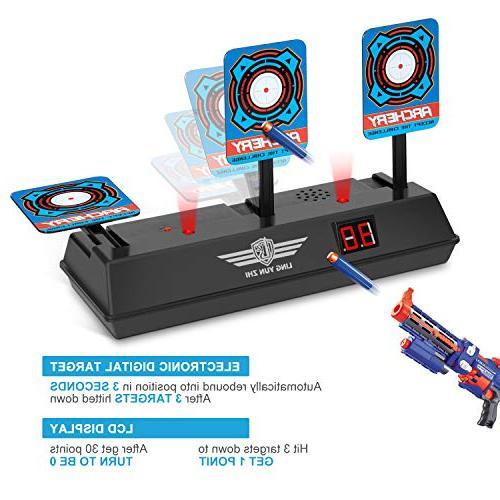 Electronic Digital Target Nerf Guns, Intelligent Light Sound Scoring N-Strike Elite/Mega/Rival
