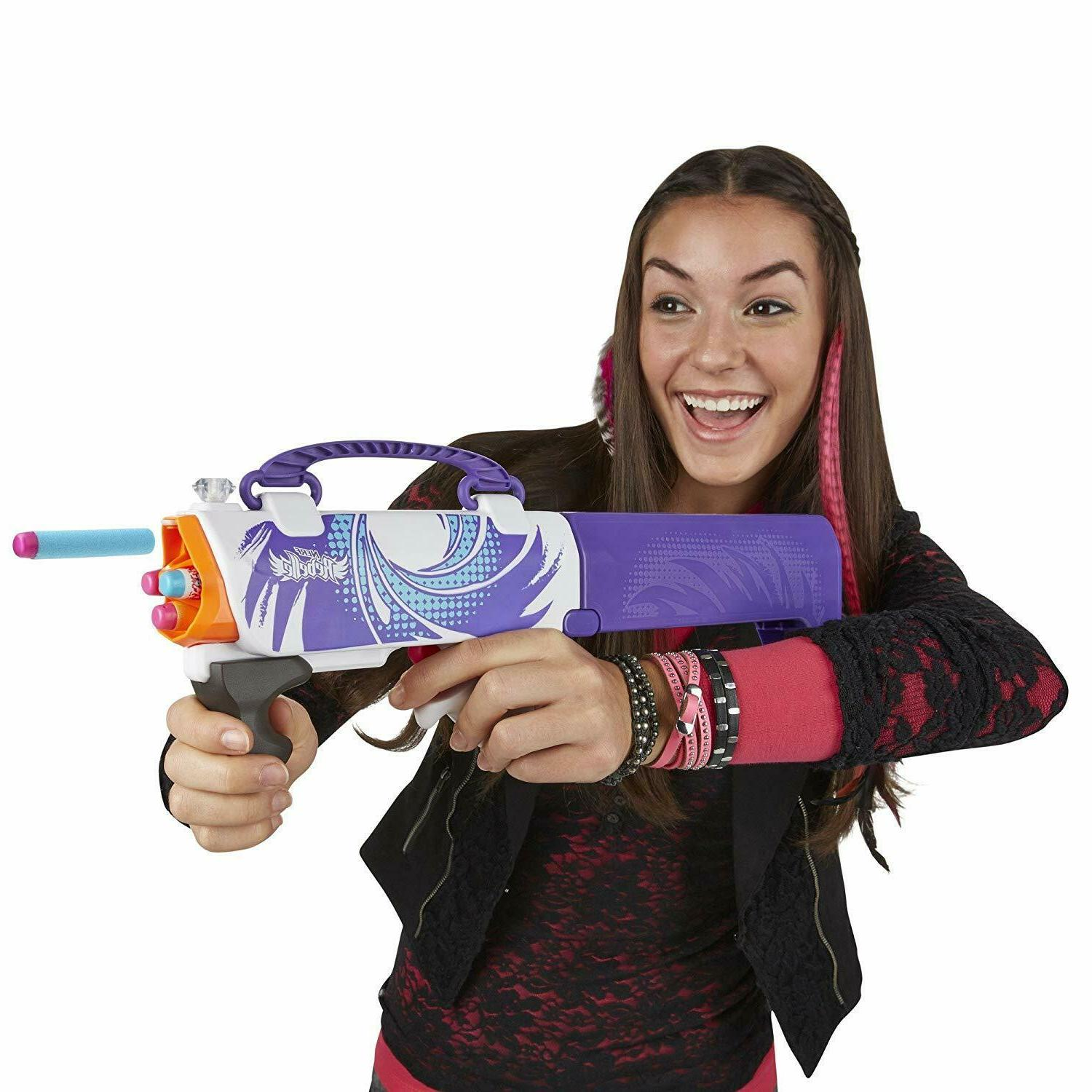 Girls Nerf Secret Shot from to Blaster Purple Gun NIB