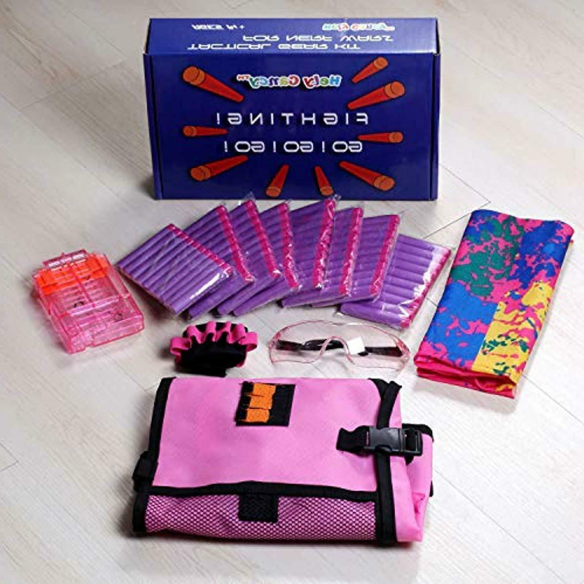 Girls Tactical Vest Kit Compatible with Nerf N-Strike .T