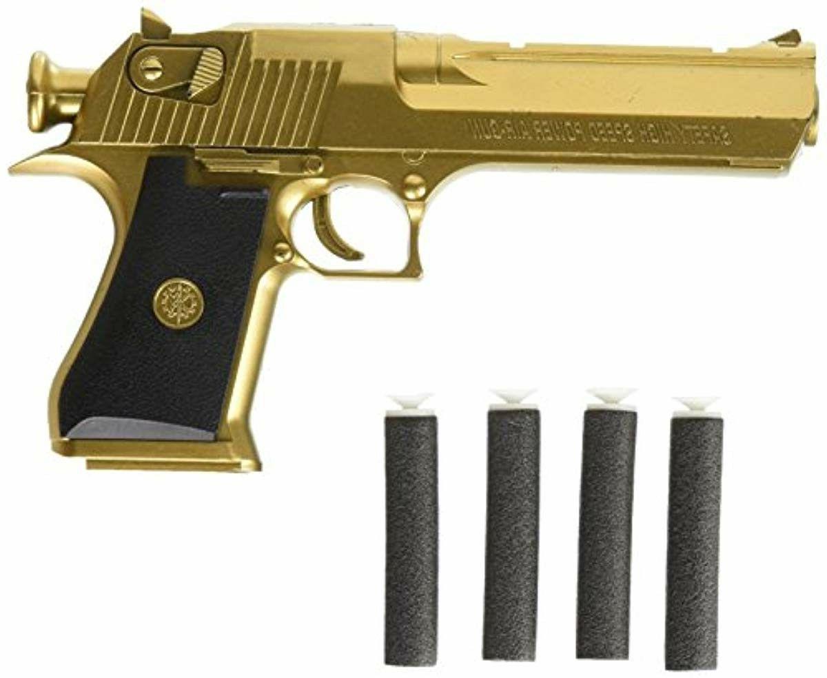 golden desert eagle toy foam dart gun