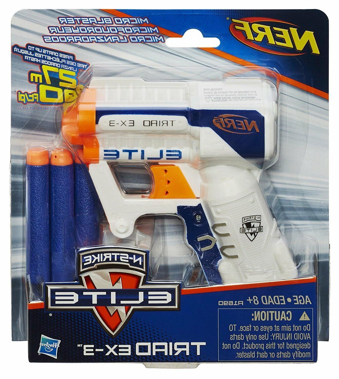NERF GUN EX-3 Pistol N-Strike Elite Micro 3