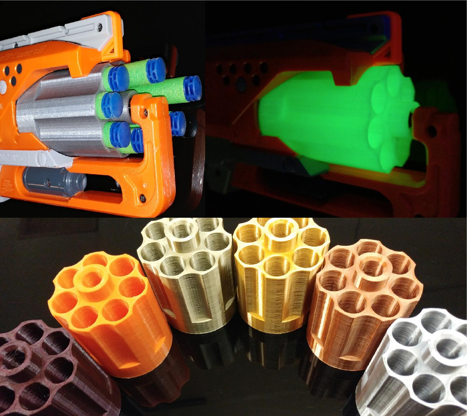 hammershot 7 round cylinder 3d print mod