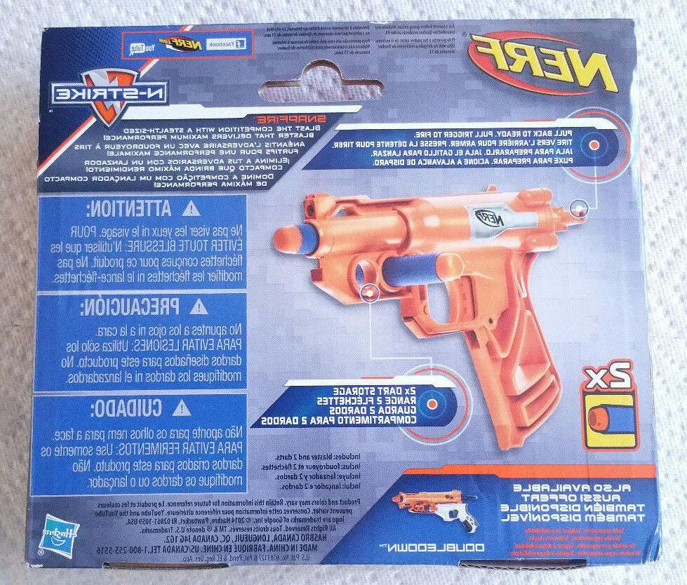 Hasbro Nerf SnapFire Blaster w/2 Darts! NEW! FREE SHIPPING!