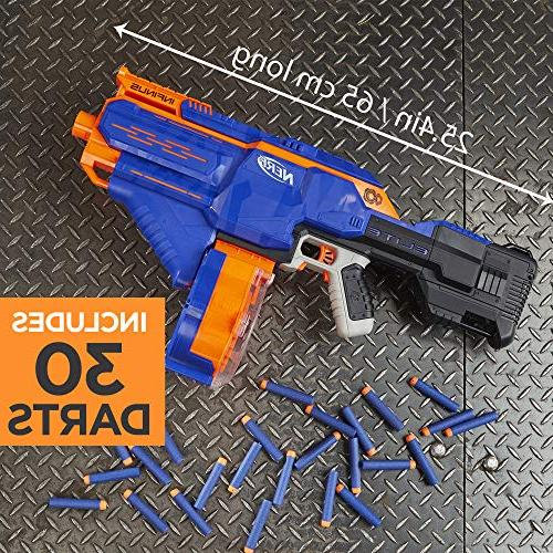 Infinus Nerf N-Strike Toy Motorized with Speed-Load Technology, and Elite Teens, Adults