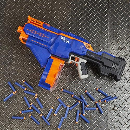 Infinus Nerf Elite Toy Motorized Blaster Speed-Load Technology, Drum, and 30 Elite Darts for