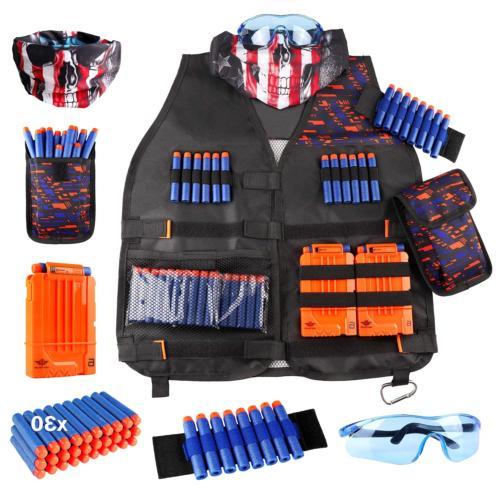 kids tactical vest kit for nerf guns