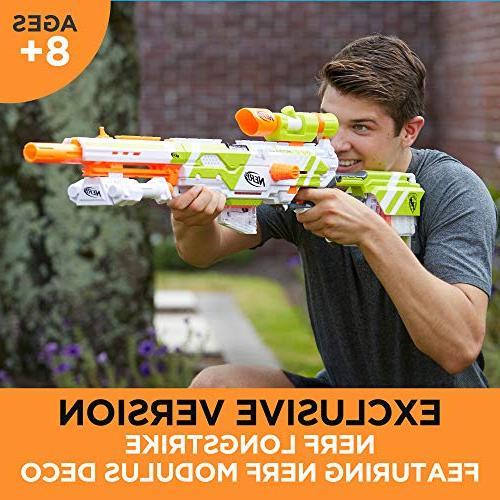Longstrike Modulus Blaster with Bipod, Scopes, Modulus Elite Darts Six-Dart Clips