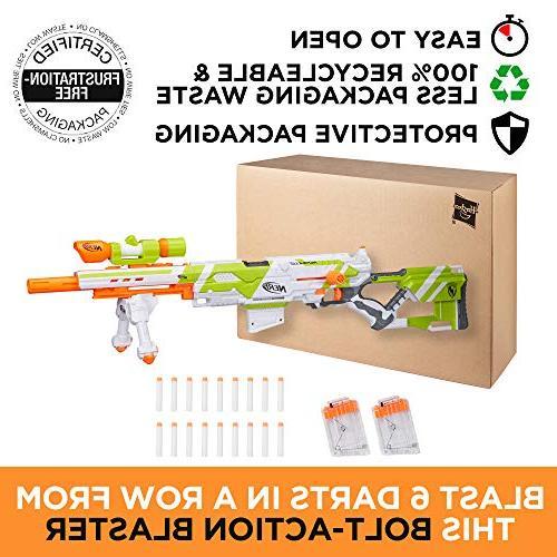 Longstrike Nerf Blaster Bipod, Scopes, Modulus Elite & 3 Six-Dart Clips