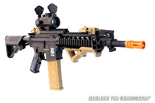 Black M4 Airsoft AEG Electric Gun - Upgradeable Gearbox and .20 .25 BB