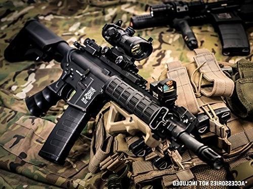 Black Airsoft AEG - Electric Fully Automatic Gun - Upgradeable and Internals - .20 .25