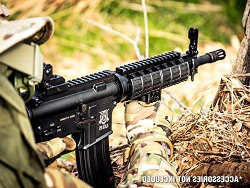 Black Airsoft Rifle - Electric Gun and .20 BB