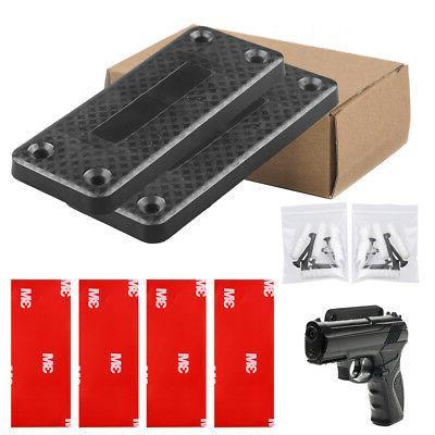 magnet concealed pistol gun holder mount under