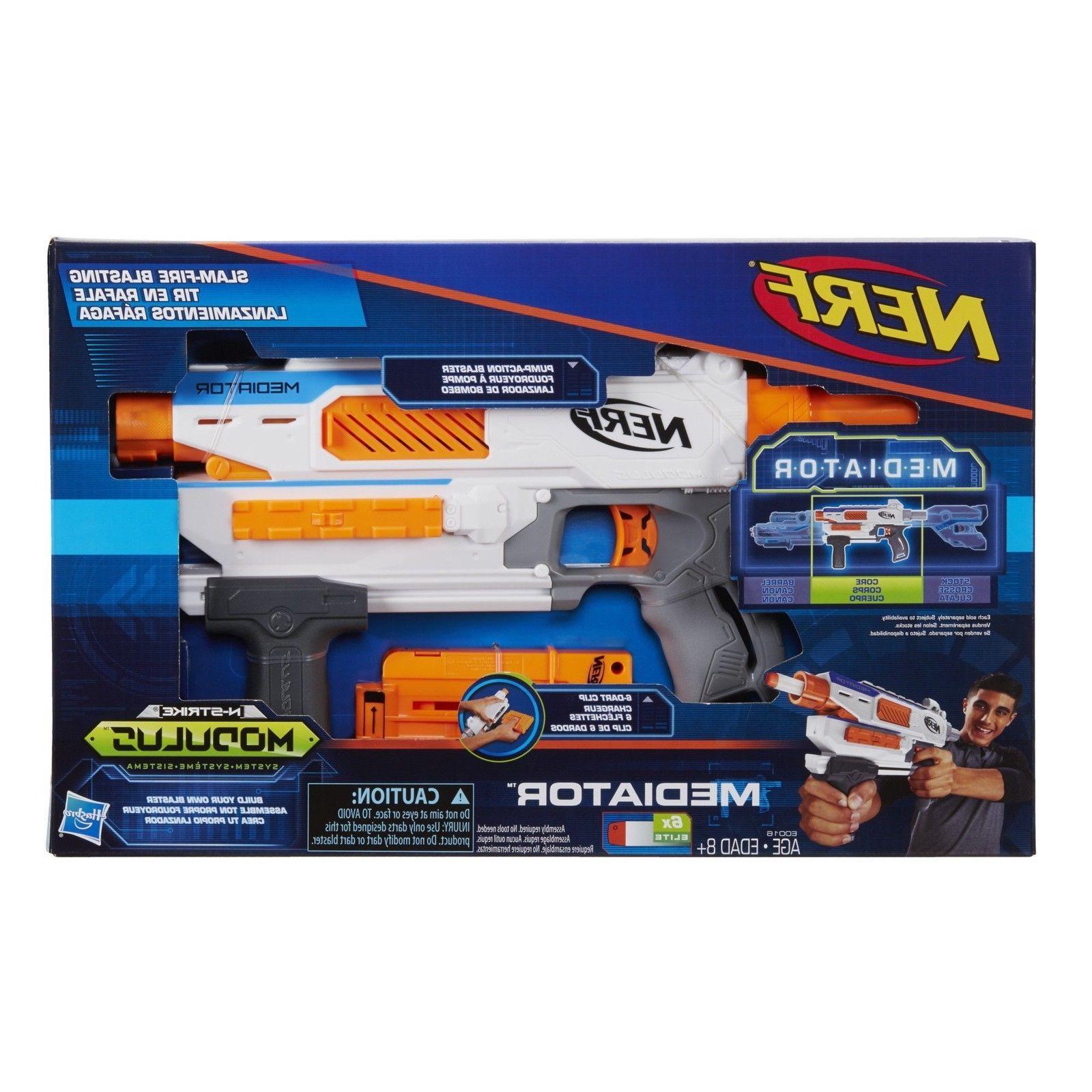 Nerf Modulus Mediator Elite Series Strike Blaster Gun Darts Kids Fast Shipp
