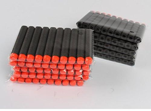 Nerf Darts / Bullets - STEALTH BLACK of 100 - Closest to Nerf Fits ALL Except